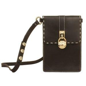 Michael Kors 552527 Hamilton Lock Leather Bag